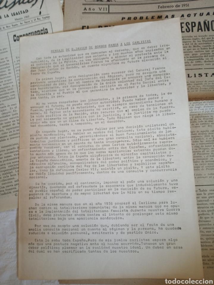Militaria: Lote publicaciones carlistas post guerra civil.requete.tradicionalista.militar.falange.franco.nacion - Foto 2 - 205349106