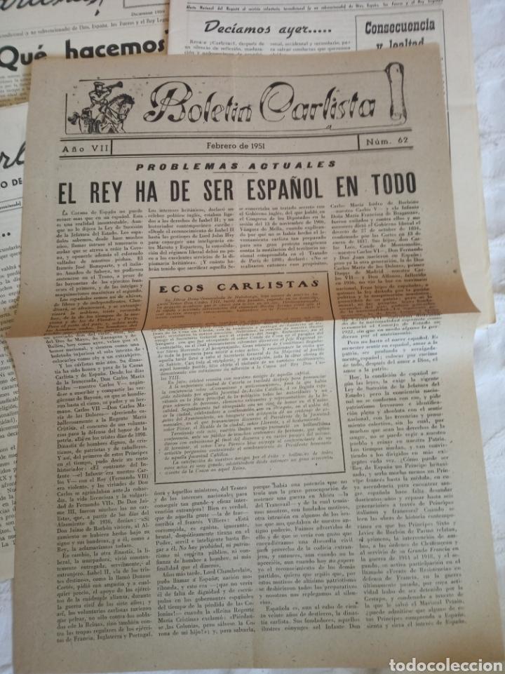 Militaria: Lote publicaciones carlistas post guerra civil.requete.tradicionalista.militar.falange.franco.nacion - Foto 3 - 205349106