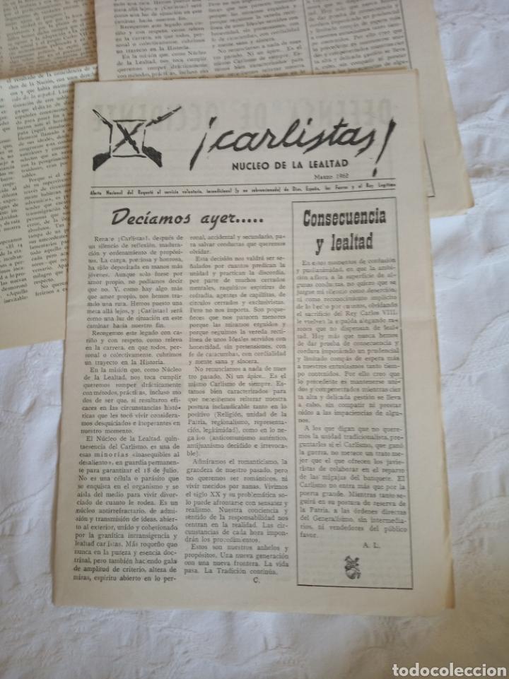Militaria: Lote publicaciones carlistas post guerra civil.requete.tradicionalista.militar.falange.franco.nacion - Foto 4 - 205349106