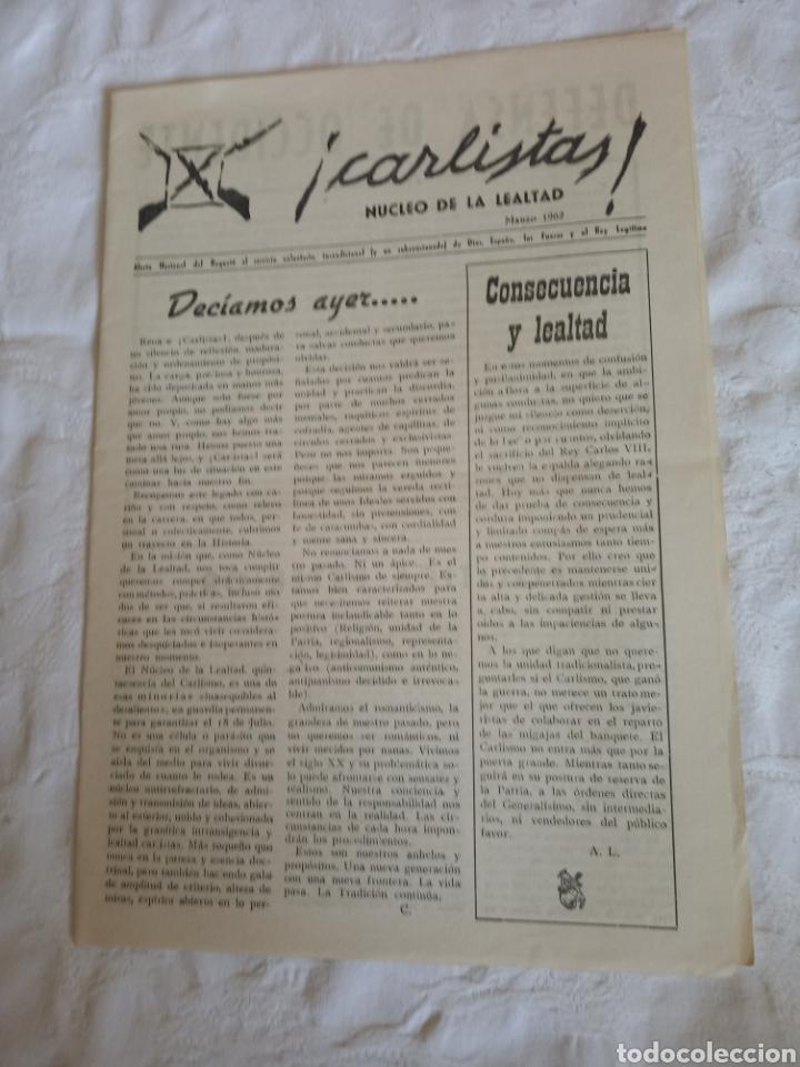 Militaria: Lote publicaciones carlistas post guerra civil.requete.tradicionalista.militar.falange.franco.nacion - Foto 6 - 205349106