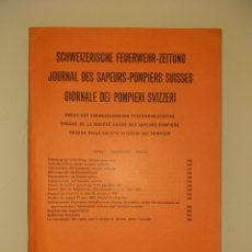 Militaria: 1962 / 5 PANFLETO SUIZA REVISTA BOMBEROS. Lote 206750041