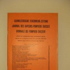 Militaria: 1962/ 4 PANFLETO SUIZA BOMBEROS REVISTA BERN CAMION PRIMUS FOTOGRAFIAS INCEDIOS. Lote 206750197