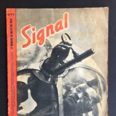 Militaria: REVISTA SIGNAL - Nº 1 MAYO 1942 - LEGION FRANCESA - ROMERIA DEL ROCIO - ESTUDIANTE PILAR -. Lote 207082306