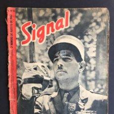 Militaria: SIGNAL Nº 16. AGOSTO DE 1943. SP - ESPAÑOL - CORSARIOS ALEMANES - ORION. Lote 207082357