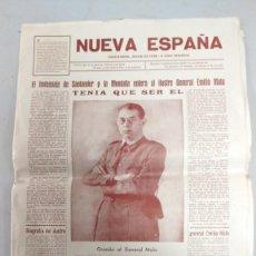 Militaria: REVISTA NUEVA ESPAÑA EL HOMENAJE A SANTANDER Y LA MONTAÑA ENTERA AL ILUSTRE GENERAL EMILIO MOLA. Lote 207113665