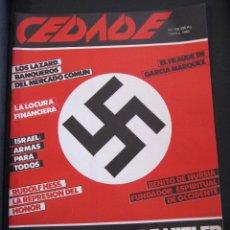Militaria: REVISTA CEDADE, Nº 138. FEBRERO 1985 LA ECONOMIA DE HITLER. RUDOLF HESS 39 PAGINAS. Lote 207272696