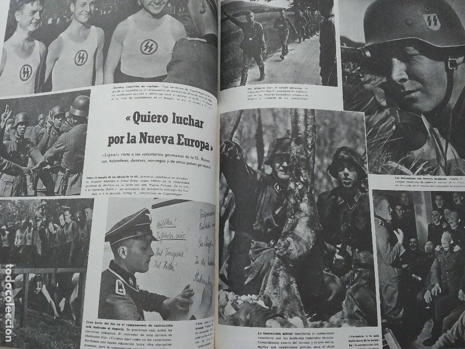 Militaria: SIGNAL SELECCIÓN DE LA REVISTA DE PROPAGANDA NAZI 1940-1945. COMPLETAS ED. EL ARQUERO - Foto 5 - 97988623