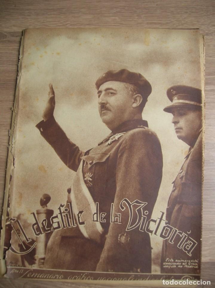 Militaria: REPORTAJE DEL DESFILE FRANQUISTA DE LA VICTORIA. 27 DE MAYO DE 1939. FRANCO. FALANGE.GUERRA CIVIL - Foto 9 - 207757718