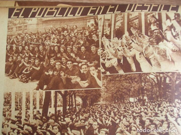 Militaria: REPORTAJE DEL DESFILE FRANQUISTA DE LA VICTORIA. 27 DE MAYO DE 1939. FRANCO. FALANGE.GUERRA CIVIL - Foto 11 - 207757718
