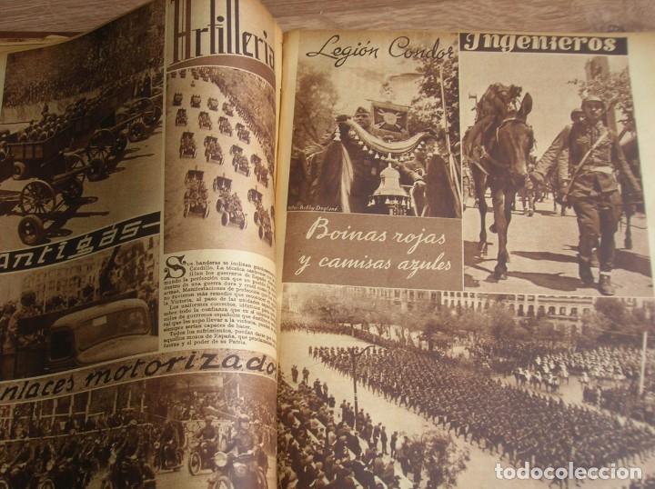 Militaria: REPORTAJE DEL DESFILE FRANQUISTA DE LA VICTORIA. 27 DE MAYO DE 1939. FRANCO. FALANGE.GUERRA CIVIL - Foto 13 - 207757718