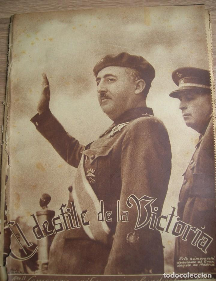 Militaria: REPORTAJE DEL DESFILE FRANQUISTA DE LA VICTORIA. 27 DE MAYO DE 1939. FRANCO. FALANGE.GUERRA CIVIL - Foto 22 - 207757718