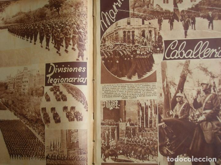 Militaria: REPORTAJE DEL DESFILE FRANQUISTA DE LA VICTORIA. 27 DE MAYO DE 1939. FRANCO. FALANGE.GUERRA CIVIL - Foto 17 - 207757718