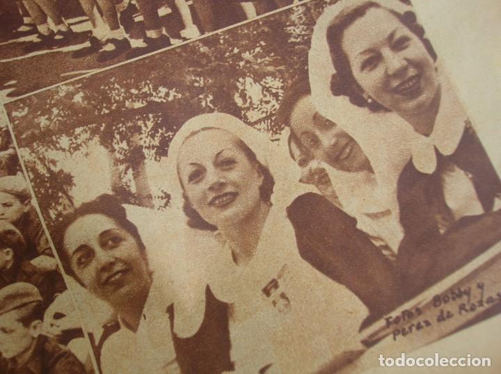 Militaria: REPORTAJE DEL DESFILE FRANQUISTA DE LA VICTORIA. 27 DE MAYO DE 1939. FRANCO. FALANGE.GUERRA CIVIL - Foto 6 - 207757718