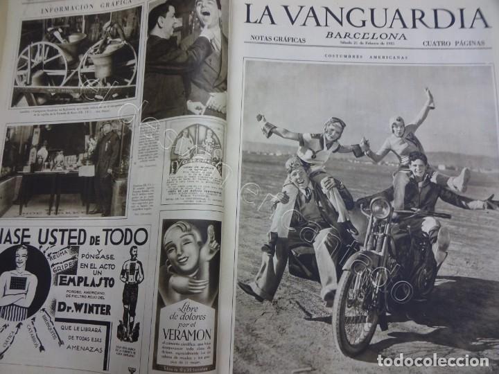 Militaria: Notas Gráficas de LA VANGUARDIA. Tomo gran formato. Año 1931. República. COMPLETO - Foto 2 - 207823011