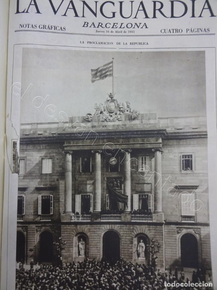 Militaria: Notas Gráficas de LA VANGUARDIA. Tomo gran formato. Año 1931. República. COMPLETO - Foto 3 - 207823011