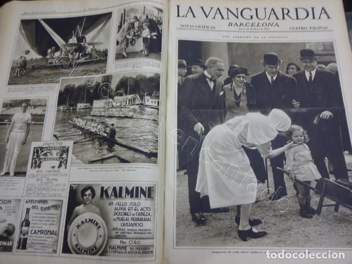 Militaria: Notas Gráficas de LA VANGUARDIA. Tomo gran formato. Año 1931. República. COMPLETO - Foto 6 - 207823011