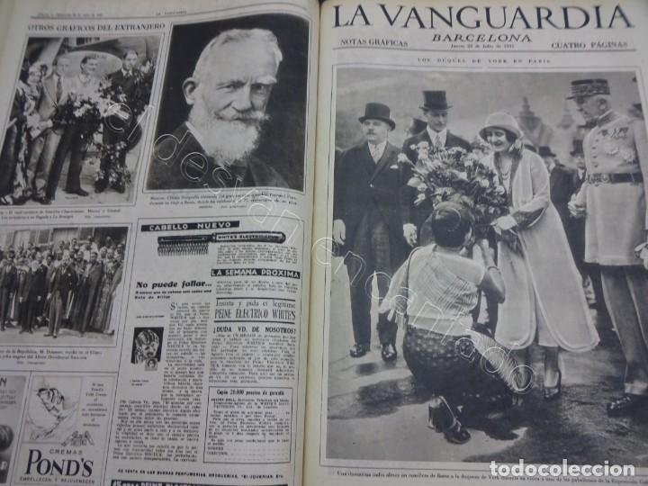 Militaria: Notas Gráficas de LA VANGUARDIA. Tomo gran formato. Año 1931. República. COMPLETO - Foto 8 - 207823011
