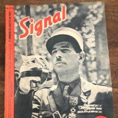 Militaria: REVISTA SIGNAL. Nº 16. 2º NUMERO DE AGOSTO DE 1943. EN ESPAÑOL. Lote 208367146