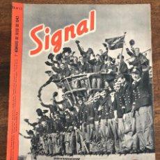 Militaria: REVISTA SIGNAL. Nº 13. 1º NUMERO DE JULIO DE 1943. EN ESPAÑOL. Lote 208368003