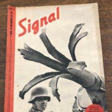 Militaria: REVISTA SIGNAL. Nº 21. 1º NUM. DE NOVIEMBRE DE 1941. EN ESPAÑOL. Lote 209103380