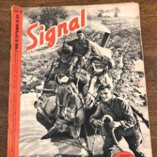 Militaria: REVISTA SIGNAL. Nº 18. 2º NUM. DE SEPTIEMBRE DE 1941. EN ESPAÑOL. Lote 209104221