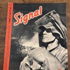 Militaria: REVISTA SIGNAL. Nº 7. 1º NUMERO DE ABRIL DE 1941. EN ESPAÑOL. Lote 209106575
