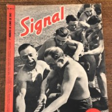 Militaria: REVISTA SIGNAL. Nº 11. 1º NUMERO DE JUNIO DE 1943. EN ESPAÑOL. Lote 209107105
