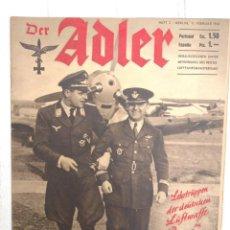 Militaria: DER ADLER, Nº 3, 11 DE FEBRERO DE 1941. Lote 209385497