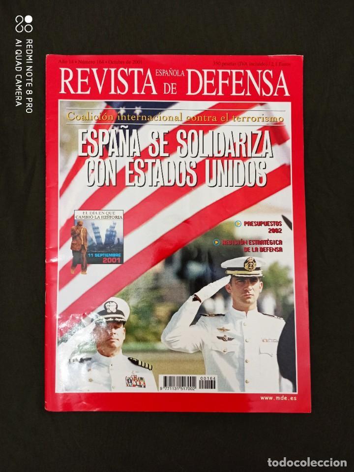 REVISTA ESPAÑOLA DE DEFENSA. COALICIÓN INTERNACIONAL CONTRA EL TERRORISMO. Nº164 OCTUBRE 2001 (Militar - Revistas y Periódicos Militares)