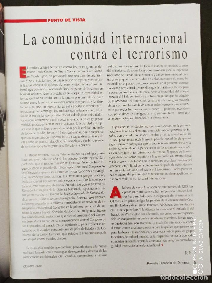 Militaria: REVISTA ESPAÑOLA DE DEFENSA. COALICIÓN INTERNACIONAL CONTRA EL TERRORISMO. Nº164 OCTUBRE 2001 - Foto 2 - 210459117