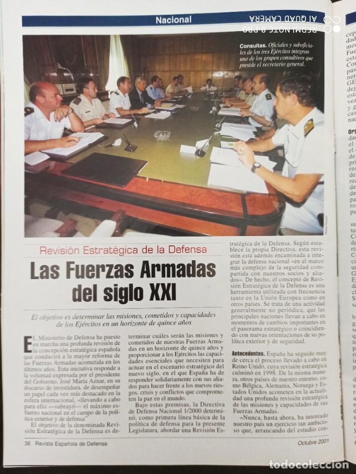 Militaria: REVISTA ESPAÑOLA DE DEFENSA. COALICIÓN INTERNACIONAL CONTRA EL TERRORISMO. Nº164 OCTUBRE 2001 - Foto 8 - 210459117