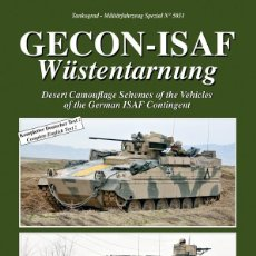 Militaria: TANKOGRAD GECON-ISAF WÜSTENTARNUNG DESERT CAMOUFLAGE OF THE VEHICLES OF THE GERMAN ISAF CONTINGENT. Lote 210788755