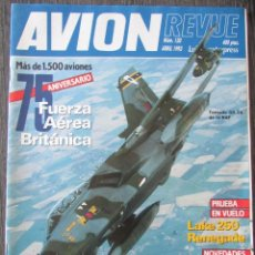 Militaria: AVION REVUE Nº 130 1993 TORNDO GR. 1A SW LA RAF,, LAKE 250 RENEGADE, AIRBUS A321, FALCON 2000. Lote 211745988