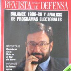 Militaria: REVISTA ESPAÑOLA DE DEFENSA Nº 20 1989. Lote 211746238