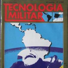 Militaria: TECNOLOGÍA MILITAR Nº 2 1990 FUERZAS AÉREAS DE AMÉRICA DEL SUR, CARROS DE COMBATE, CON POSTER. Lote 211764310