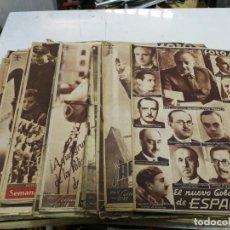 Militaria: LOTE 17 NUMEROS DE SEMANARIO GRÁFICO NACIONALSINDICALISTA. FOTOS. FRANCO GUERRA CIVIL. Lote 211784496
