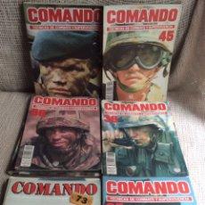 Militaria: FASCICULOS COMANDO , TECNICAS DE COMBATE Y SUPERVIVENCIA - LOTE DE 56 EJEMPLARES. Lote 212005418