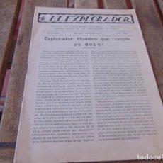 Militaria: SCOUT ESCULTISMO EL EXPLORADOR, REVISTA ,ENERO, AÑO 1936 MADRID. Lote 212401168