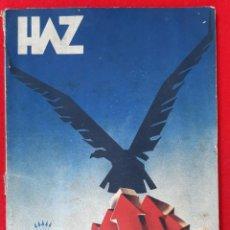 Militaria: REVISTA O LIBRO HAZ SEGUNDA EPOCA Nº 19 ABRIL 1940 PUBLICIDAD DECO ORIGINAL. Lote 212413638