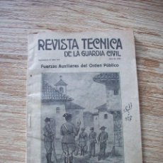 Militaria: REVISTA TECNICA DE LA GUARDIA CIVIL . JULIO DE 1936 .. Lote 213012021