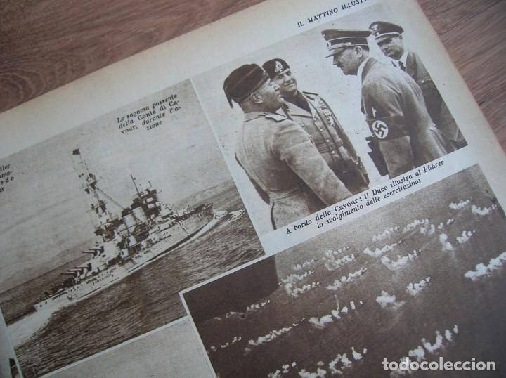 Militaria: IL MATTINO ILLUSTRATO. MAYO DEL AÑO 1938. REGIA MARINA. ITALIA FASCISTA. MUSSOLINI, - Foto 2 - 213436770