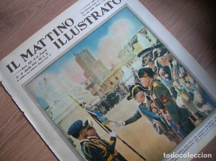 Militaria: IL MATTINO ILLUSTRATO. ABRIL DE 1937. REY VICTOR MANUEL III DE ITALIA. MUSSOLINI. FASCISMO. - Foto 4 - 213509516