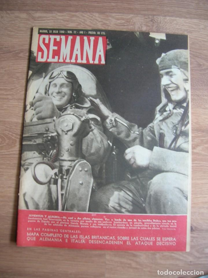 REVISTA SEMANA. JULIO DE 1940. BATALLA DE INGLATERRA. LUFTWAFFE. (Militar - Revistas y Periódicos Militares)