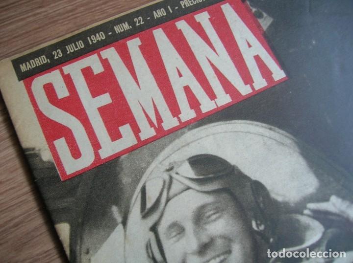 Militaria: REVISTA SEMANA. JULIO DE 1940. BATALLA DE INGLATERRA. LUFTWAFFE. - Foto 4 - 213509823