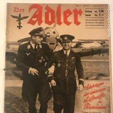 Militaria: DER ADLER HELF 3 11 FEBRERO 1941 ESPAÑO- ALEMAN. Lote 215735375