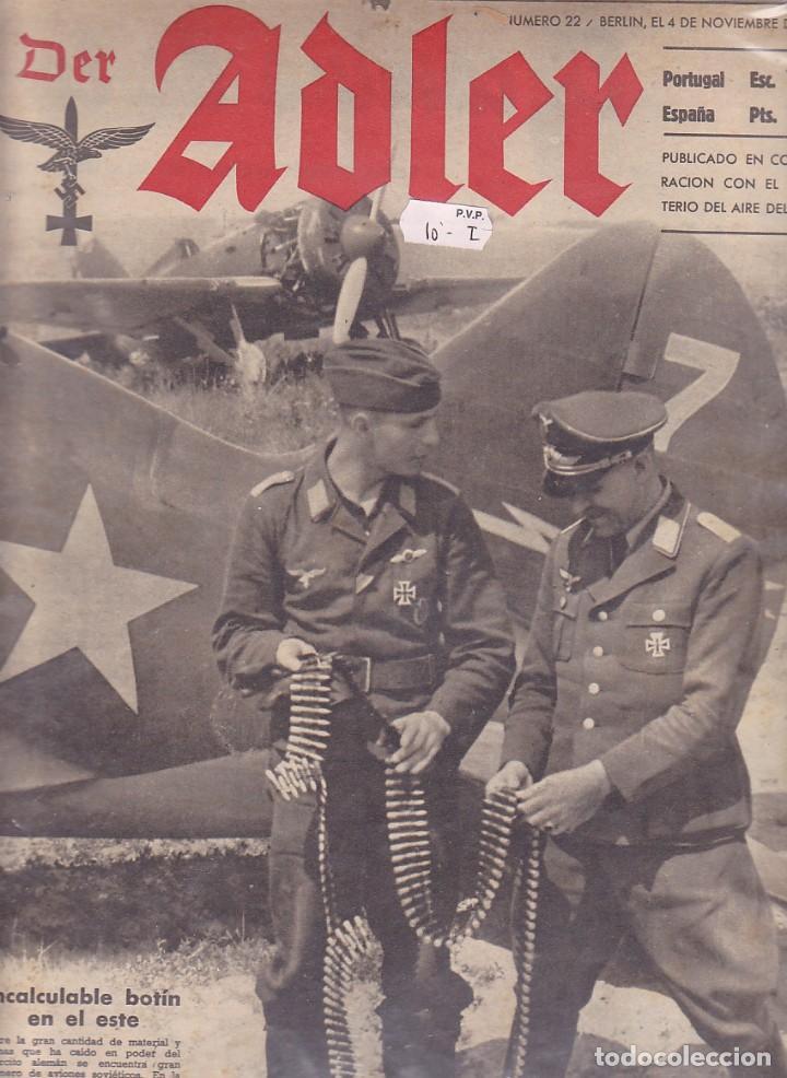 REVISTA ADLER 4 NOVIEMBRE 1941 (Militar - Revistas y Periódicos Militares)