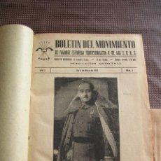 Militaria: BOLETIN DEL MOVIMIENTO, FALANGE ESPAÑOLA TRADICIONALISTA Y DE LAS JONS, 1937/1975. Lote 216905150