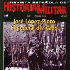Militaria: REVISTA ESPAÑOLA DE HISTORIA MILITAR, Nº63. JOSÉ LÓPEZ PINTO. EL GENERAL OLVIDADO HM-187. Lote 246895115