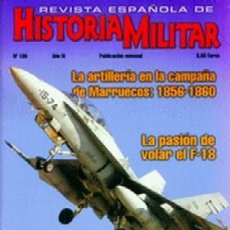 Militaria: REVISTA ESPAÑOLA DE HISTORIA MILITAR, Nº105 LA ARTILLERIA EN LA CAMPAÑA DE MARRUECOS:18561860 HM-221. Lote 218674678