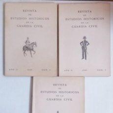 Militaria: LOTE REVISTAS DE ESTUDIOS HISTORICOS DE LA GUARDIA CIVIL 1968. Lote 219386630